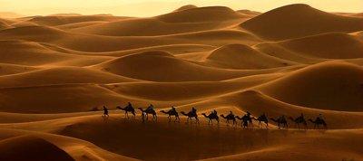 dune di erg chebbi deserto del sahara
