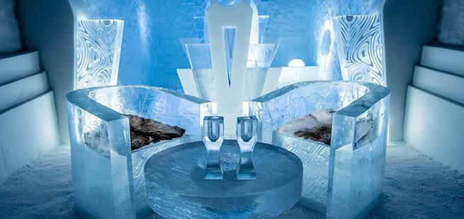 hotel di ghiaccio interno tour lapponia